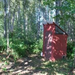 Campers use well maintained, clean outhouses