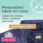 Advertisement for Mabels Labels for personalizing clothing and sundries labels for your camper.
