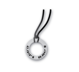 Coordinates Ring Necklace